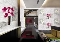 Giấy dán tường dần thay thế sơn trong trang trí nội thất