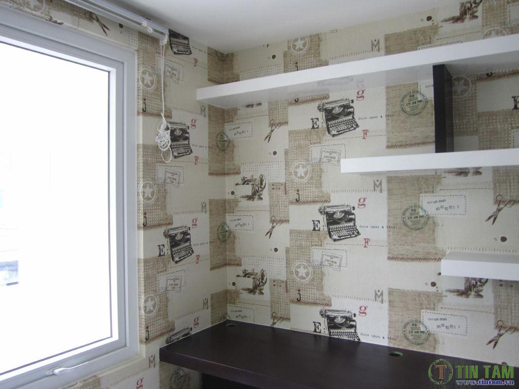 giấy dán tường phòng đọc sách