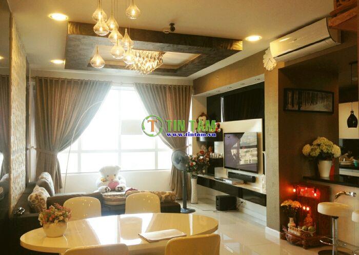 mẫu màn rèm cửa cao cấp đẹp cho căn hộ cao cấp  tại căn hộ Sunrise city quận 7